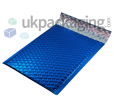 Blue Metallic Bubble Postal Bags