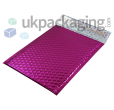 Pink Metallic Bubble Postal Bags