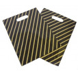 Black & Gold Plastic Carrier Bags