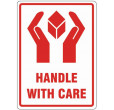 Handle With Care Labels (108x79mm)