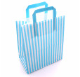 Blue Striped Carrier Bags Tape Handle