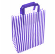 Purple Striped Carrier Bags Tape Handle