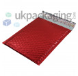 Red Metallic Bubble Postal Bags