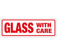 Glass With Care Labels (148x50mm)