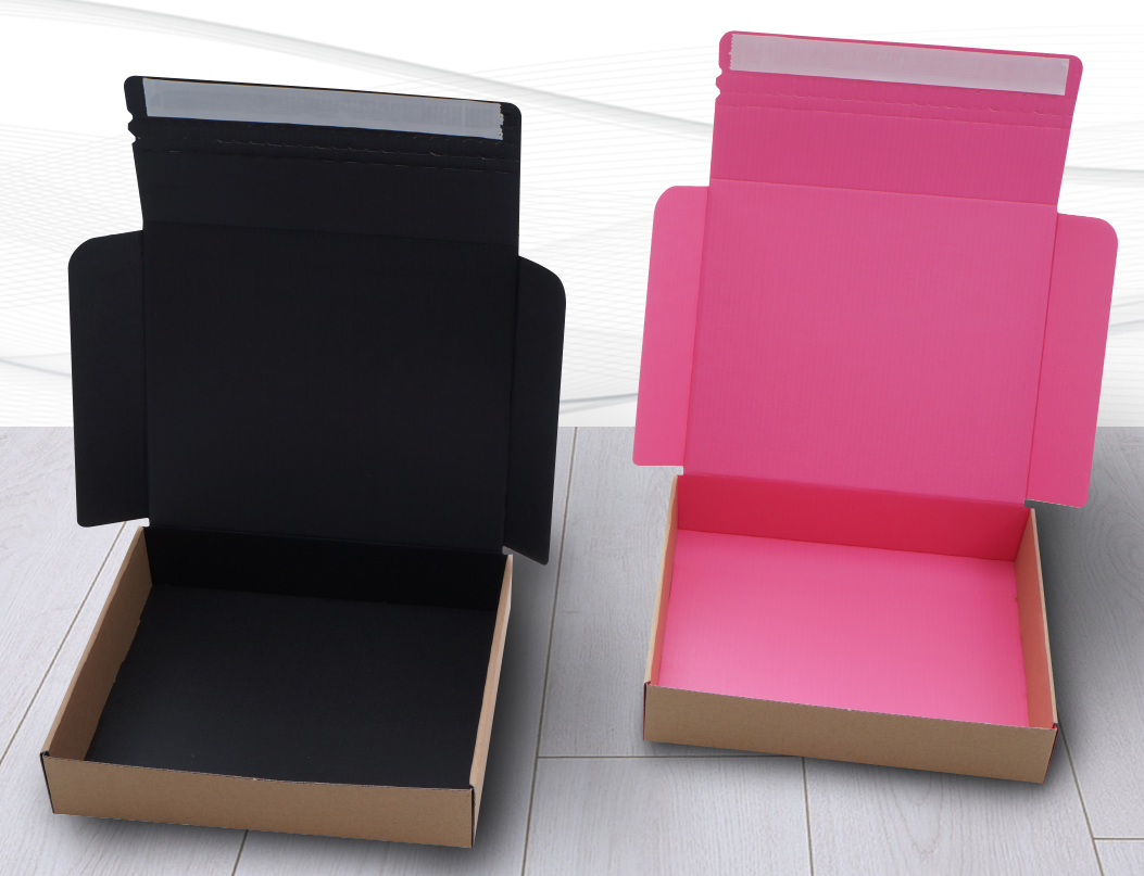 Black and Pink Quick Seal Postal Boxes